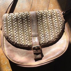 Brown Woven Purse